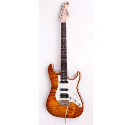 N Zaganin Modern ST Honeyburst Guitar