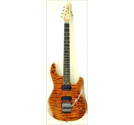 N Zaganin Higher Flow Transparent Amber Quilted Guitar
