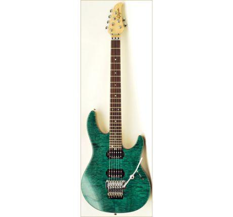 N Zaganin Higher Flow Transparent Green Curly Guitar
