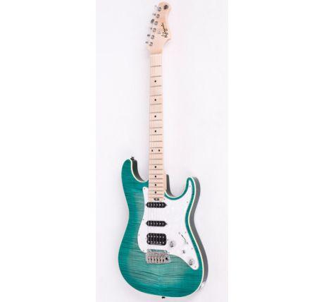 N Zaganin Modern ST Greenburst Guitar
