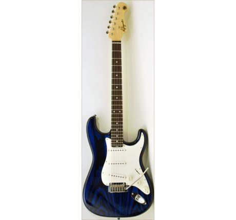 N Zaganin Spice St Transparent Blue Guitar